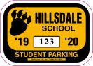 109-H-PARKING PERMIT DECAL