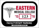 109-HOSPITAL PARKING PERMIT DECAL