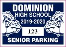 117-H-HIGH SCHOOL PARKING DECAL
