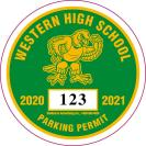 210- SCHOOL PARKING PERMIT DECAL