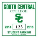 211-C PARKING PERMIT DECAL