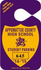 604-HS-1- SCHOOL PARKING TAG