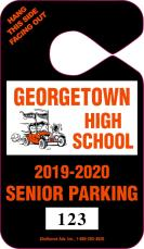 607 - HIGH SCHOOL PARKING TAG