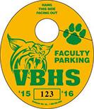 801-A - SCHOOL PARKING TAG