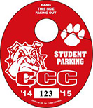 801-B -OVAL PARKING TAG