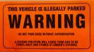 200-W WARNING STICKER